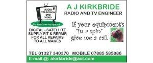 A J Kirkbride - Radio & TV Engineer