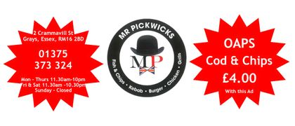 Mr Pickwick Fish & Chips
