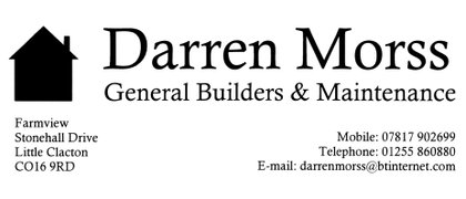 Darren Morss General Builders