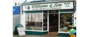 Williams & Son Butchers.