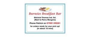 Burnsies Breakfast bar