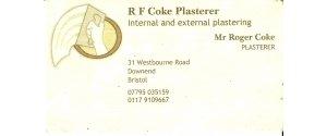 R.F. Coke Plasterer