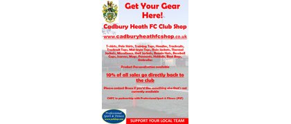 Cadbury Heath F.C. Shop