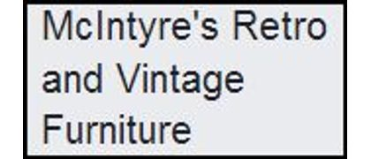 McIntyre's Antique, Vintage and Retro Furniture