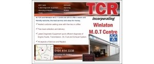 TCR Incorporating Winlaton MOT Centre