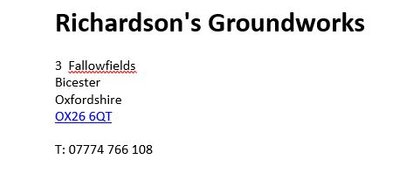 Richardson's Groundworks