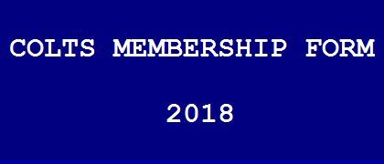 Colts Membership Form 2018