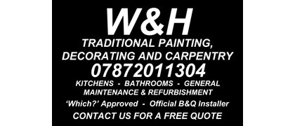 W & H Painting, Decorating & Carpentry