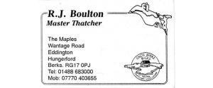 R.J Boulton Master Thatchers L