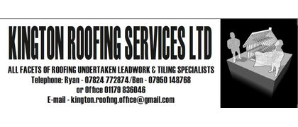 Pitch Side Board Sponsor - Kington Roofing Services LTD
