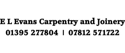 E L Evans Carpentry and Joinery
