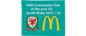 FAW Trust community Club of the year winners