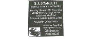 S J Scarlett Motor Engineer