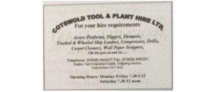 Cotswold Tool & Plant Hire