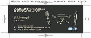 Albert's Table