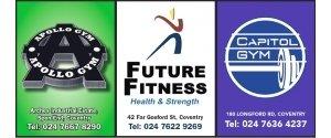 Apollo Gym, Future Fitness, Capitol Gym