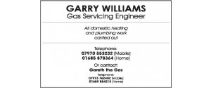 Garry Williams Gas Servicing Engineer