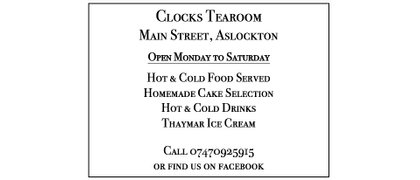 Clocks Tearoom Aslockton