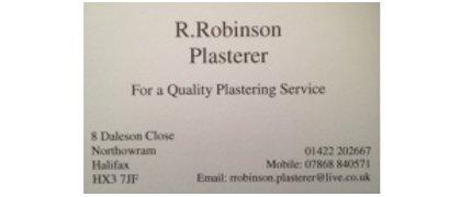 R.Robinson - Plasterer
