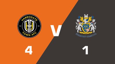 Highlights: Harrogate Town vs Stockport County