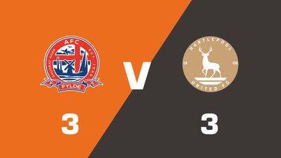 Highlights: AFC Fylde vs Hartlepool United