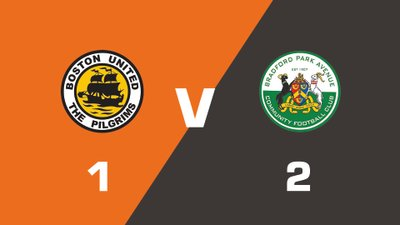 Highlights: Boston United vs Bradford Park Avenue