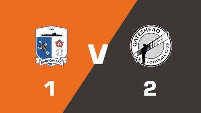 Highlights: Barrow vs Gateshead