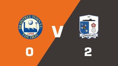 Highlights: Braintree Town vs Barrow