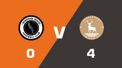 Highlights: Boreham Wood vs Hartlepool United