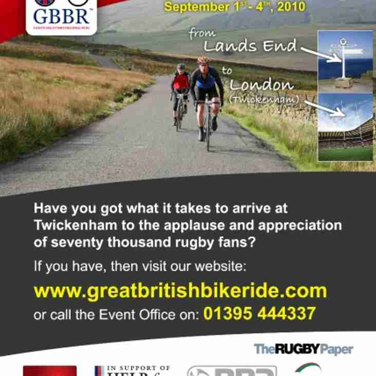 LEXUS GREAT BRITISH BIKE RIDE – Enter a team!