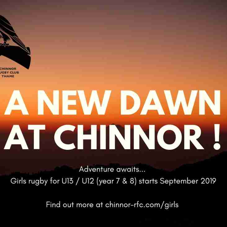Chinnor launches Girls Rugby squad!