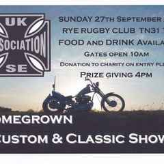 Sunday 27th September - Custom & Classic cars and bikes show