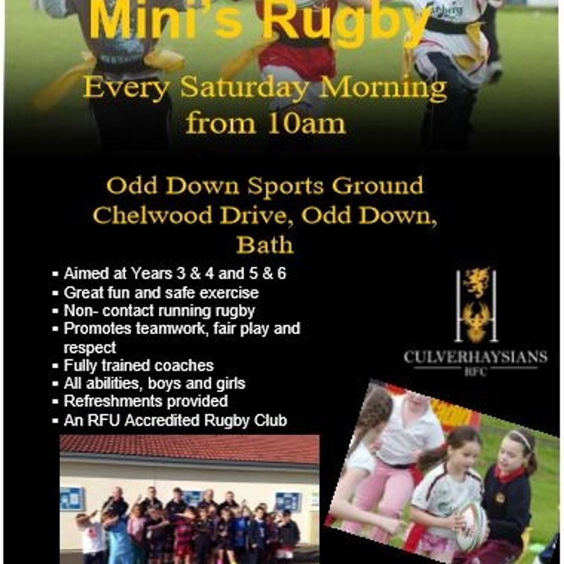 Old C's Mini's Training and Match with Oldfield RFC - Saturday 19th November