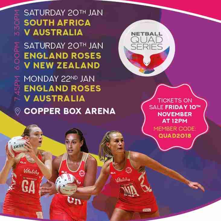 Fancy a girls night at the Netball Quad Series