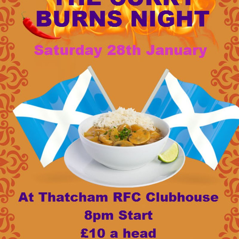 The Curry Burns Night - Saturday 28th January