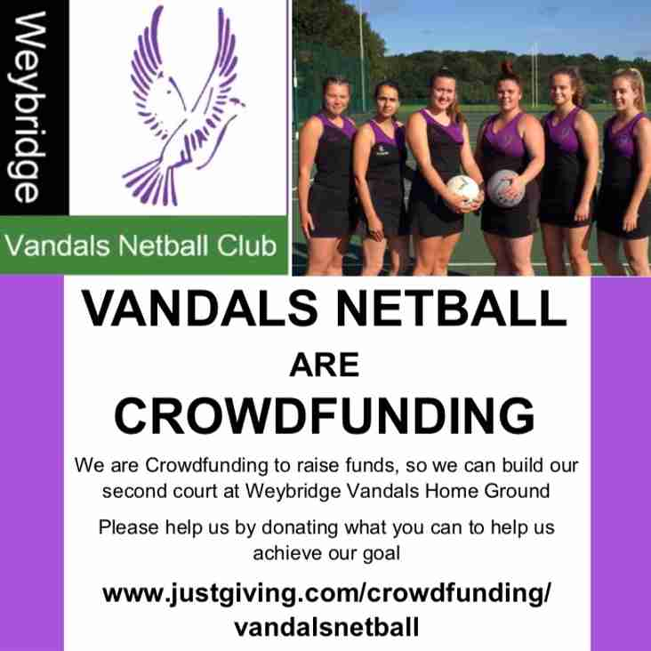 Fund raising for Netball's second court has started!