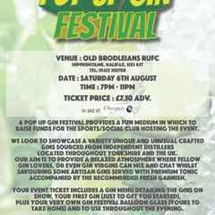 GIN FESTIVAL Saturday 6th August