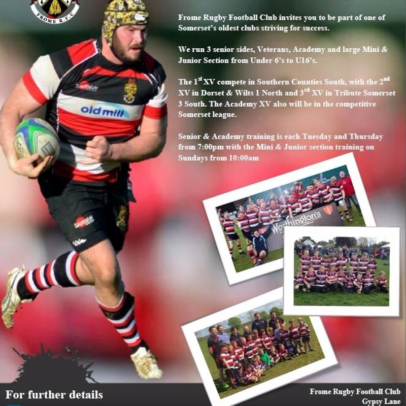 Play Rugby for Frome RFC