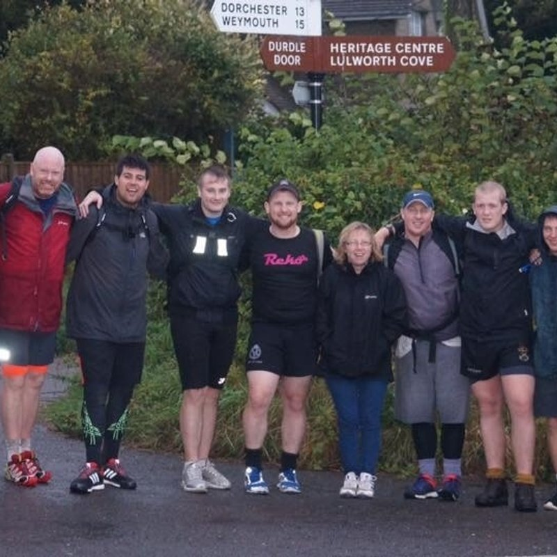 Members of Frome RFC in 50 mile challenge