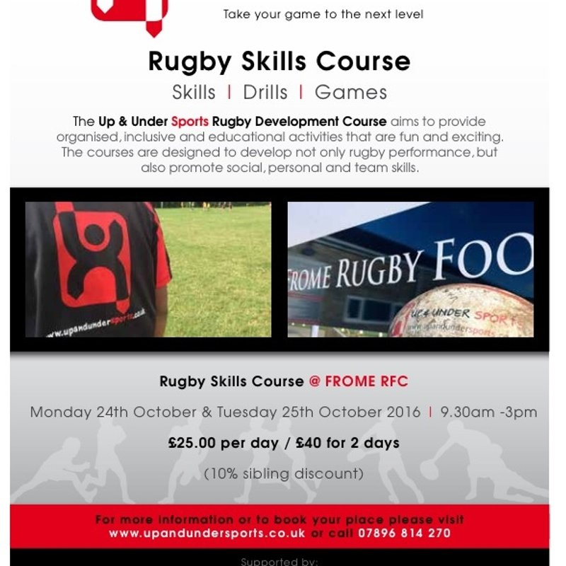 Up & Under Courses at Frome RFC