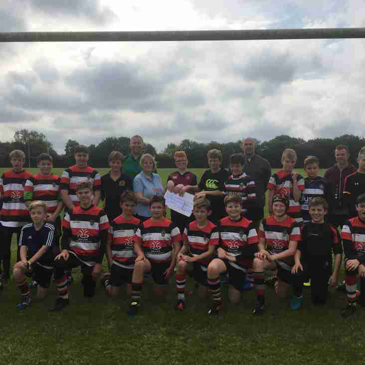 The Frome RFC U13's in charity run