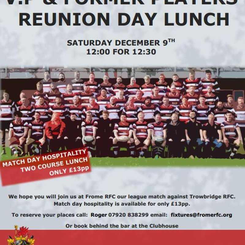 Frome RFC former players reunion lunch