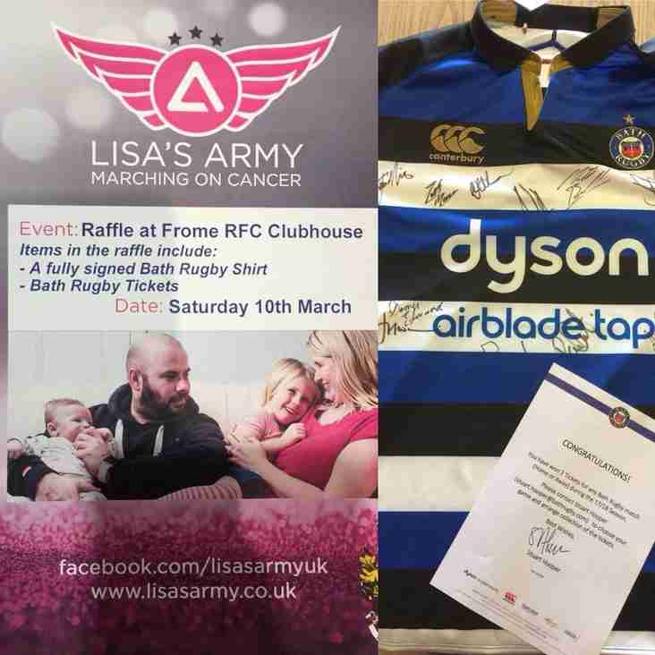 Auction for Lisa's Army at Frome RFC