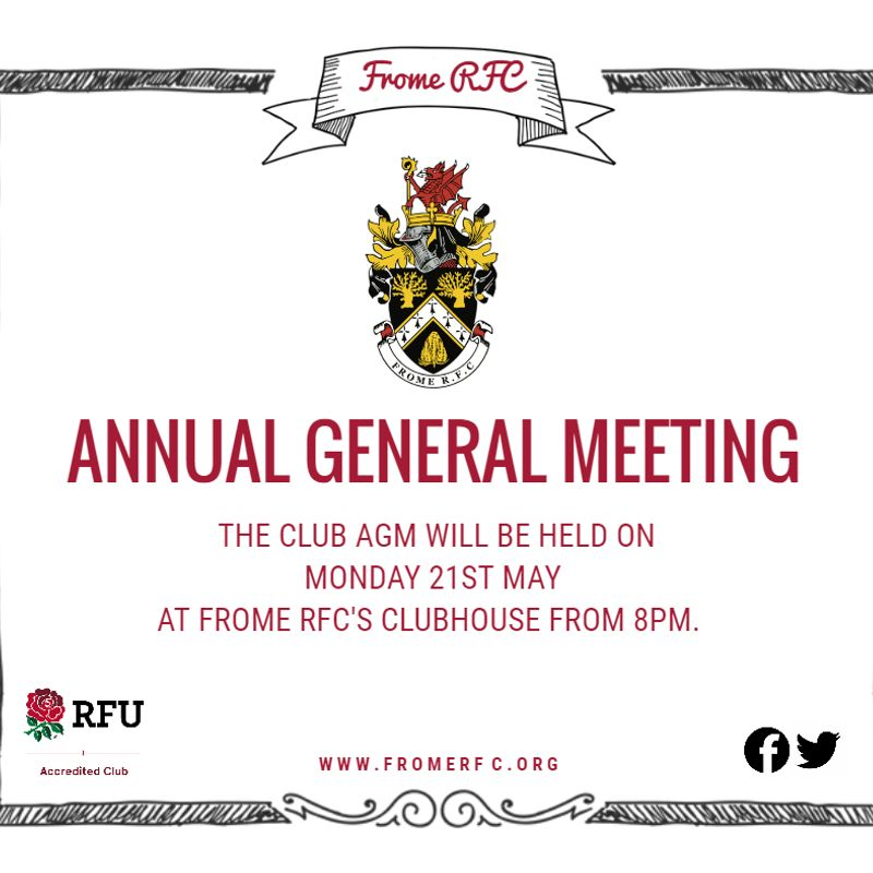 The Frome RFC AGM