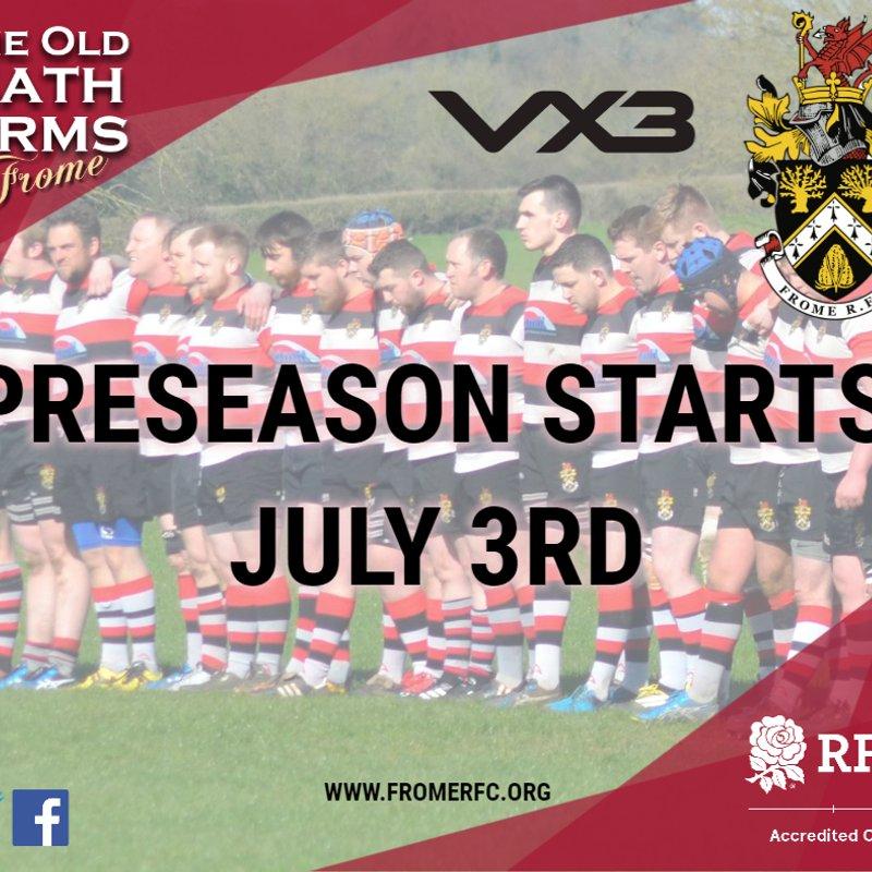 Preseason starts July 3rd
