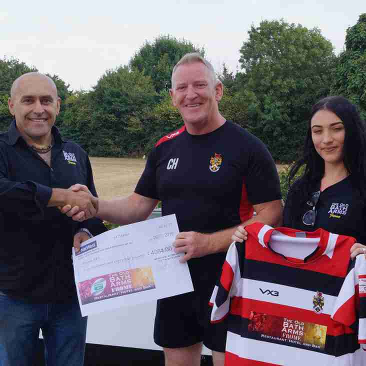 The Old Bath Arms becomes new Club Main Sponsor