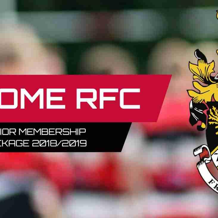 Frome RFC Membership 2018/2019
