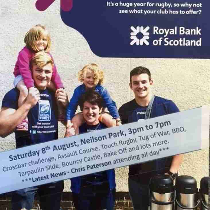 RBS RUGBY FORCE 2016 - Saturday 20th August