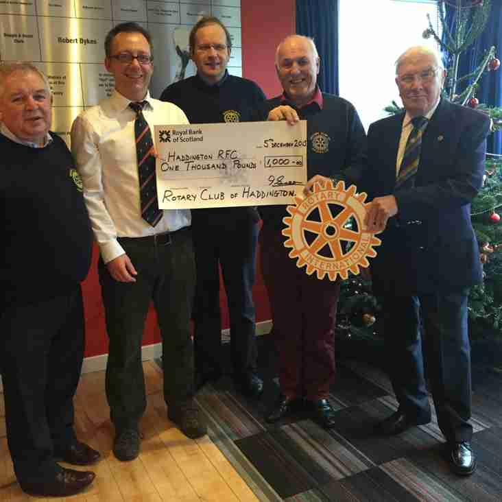 Rotary Club sponsor HRFC to support youth rugby