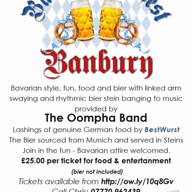Bavarian Bierfest at Banbury Rugby Club!